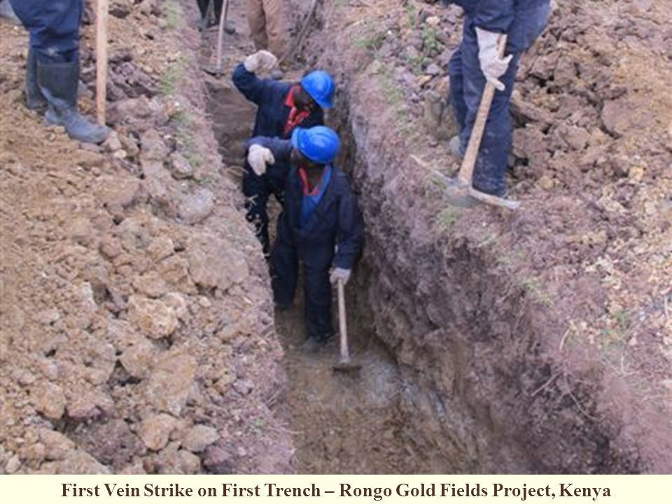 First Vein Strike on First Trench – Rongo Gold Fields Project, Kenya