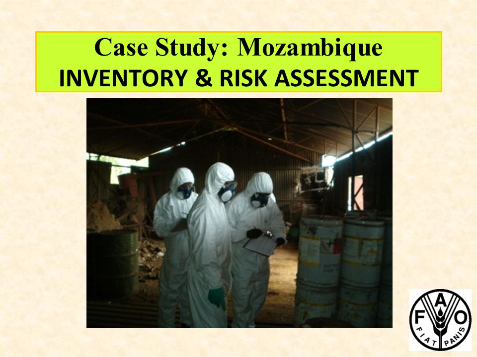 Case Study: Mozambique INVENTORY & RISK ASSESSMENT