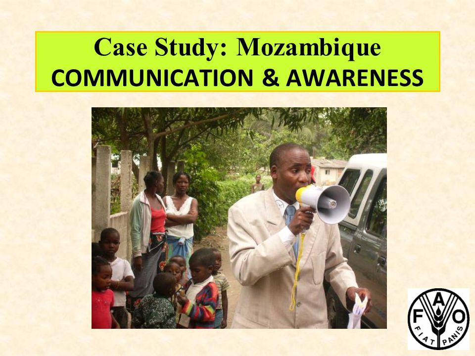 Case Study: Mozambique COMMUNICATION & AWARENESS