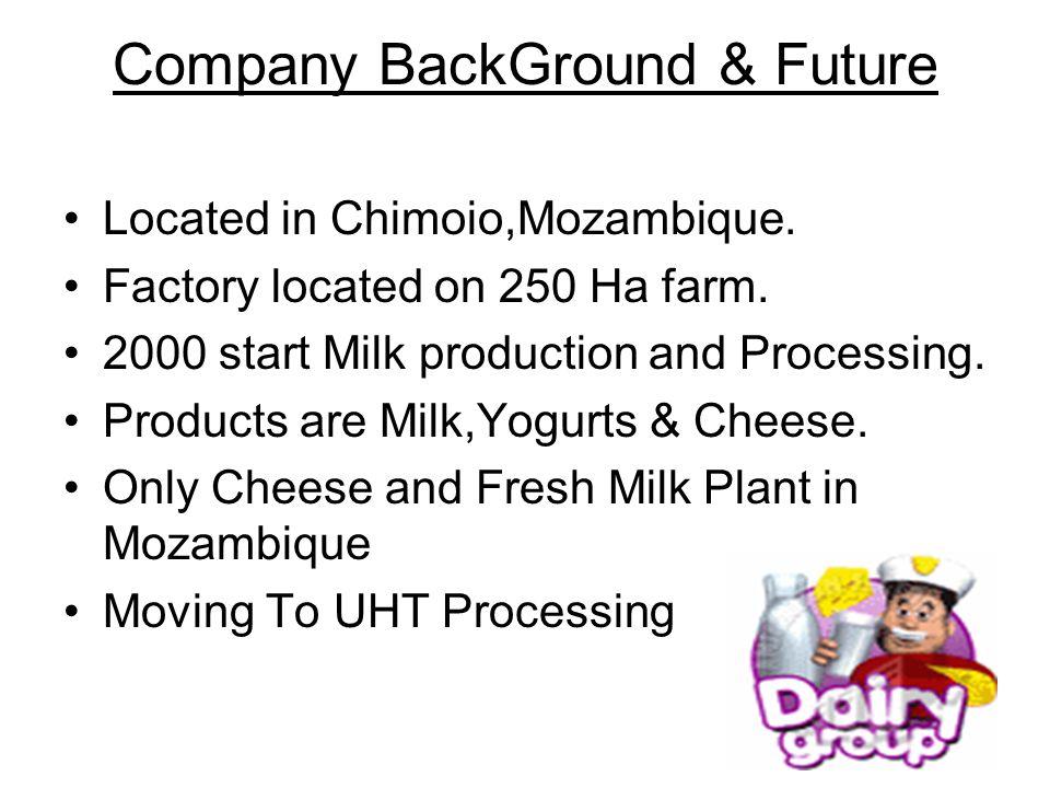 Company BackGround & Future Located in Chimoio,Mozambique.