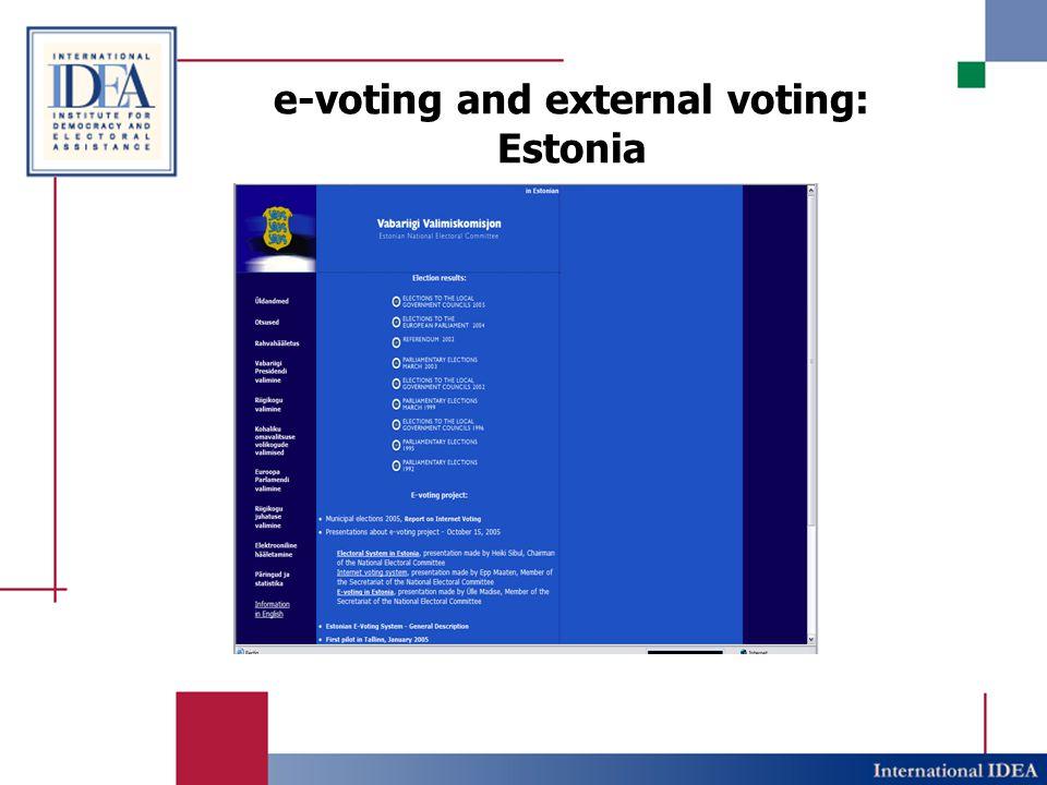 e-voting and external voting: Estonia