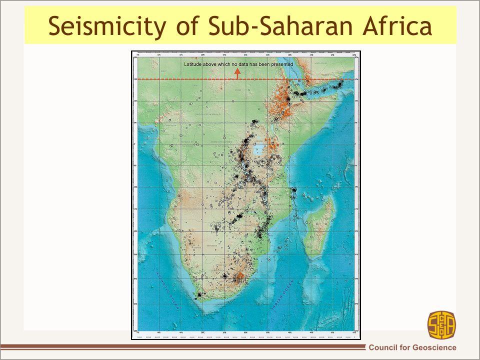 Seismicity of Sub-Saharan Africa