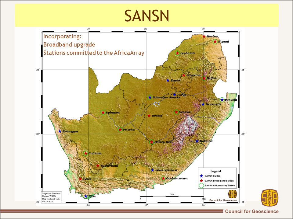 SANSN Incorporating: Broadband upgrade Stations committed to the AfricaArray