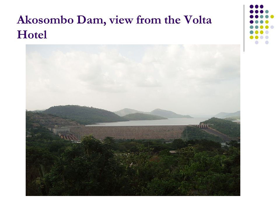 Akosombo Dam, view from the Volta Hotel