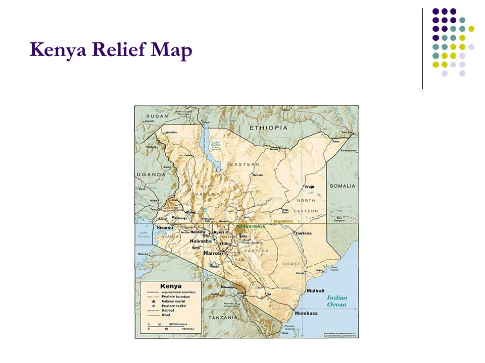 Kenya Relief Map