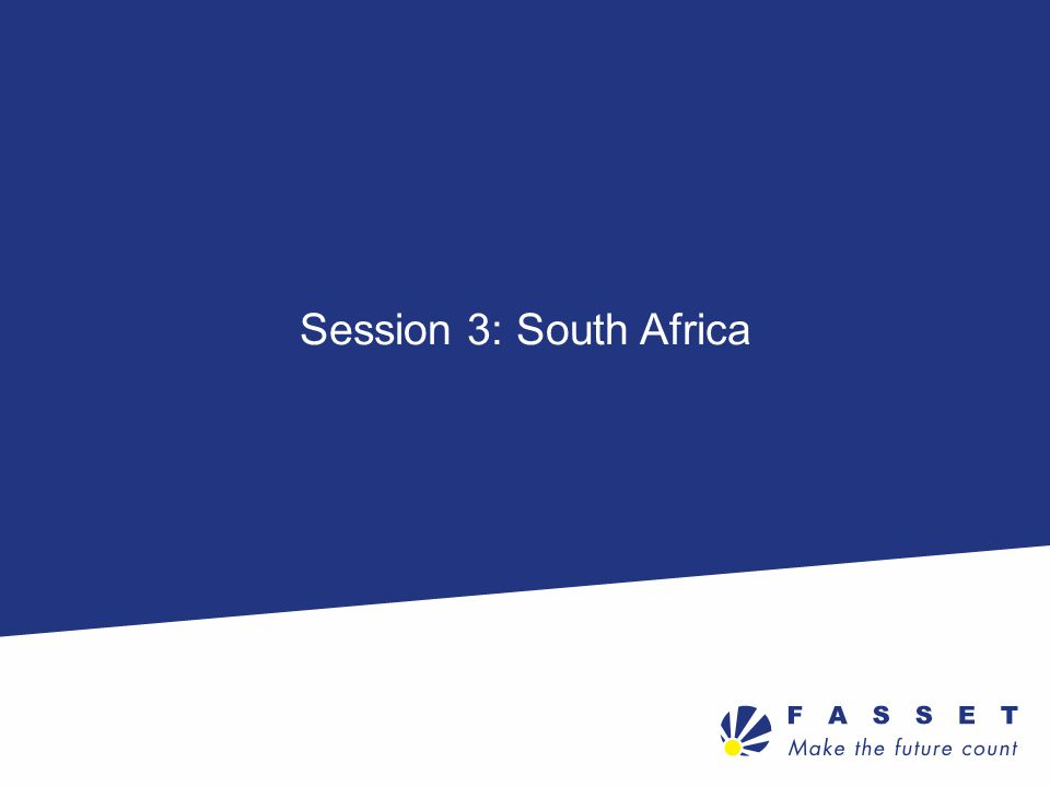 Session 3: South Africa