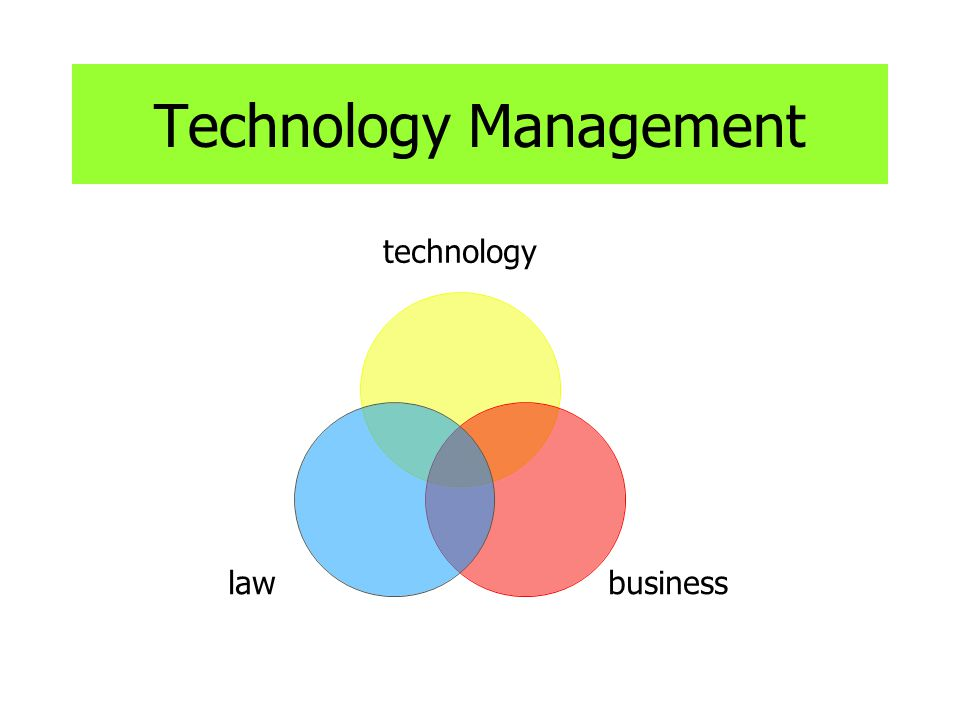 Technology Management technology businesslaw