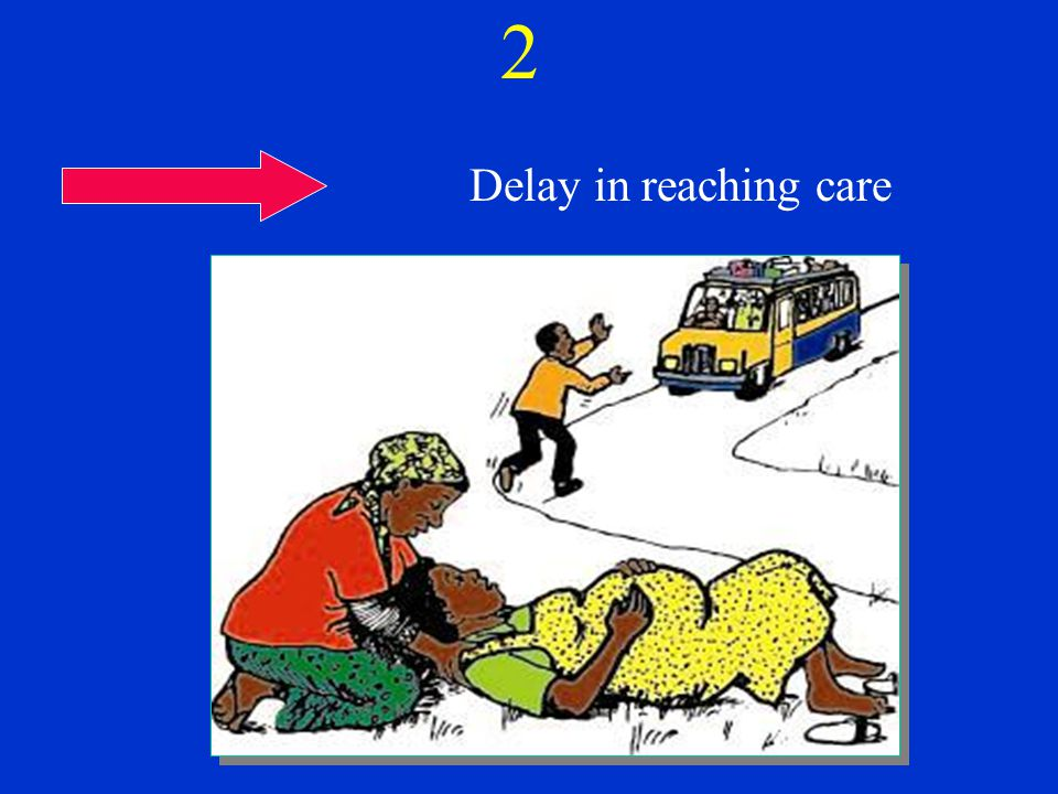 2 Delay in reaching care