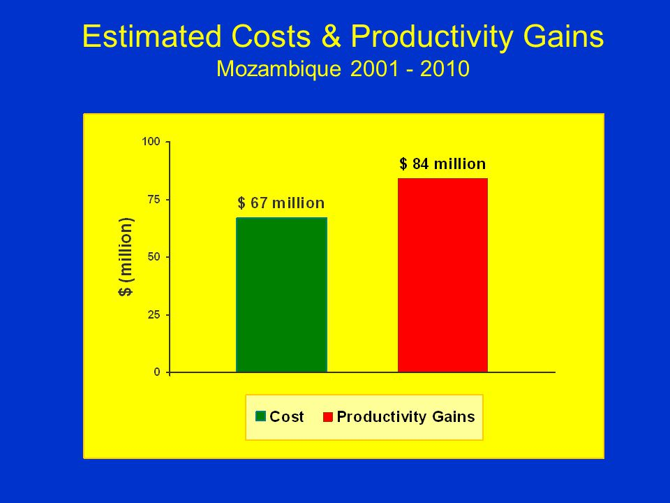 Estimated Costs & Productivity Gains Mozambique 2001 - 2010
