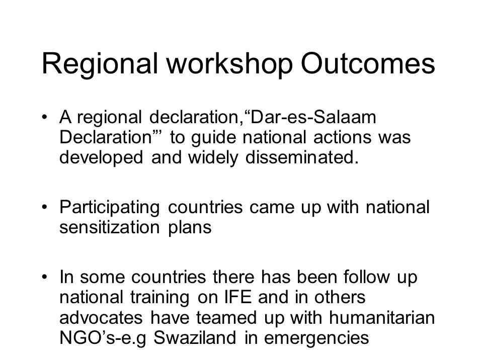 4.A working Group regional meeting in Dar-es-Salaam, Tanzania, in 2003.