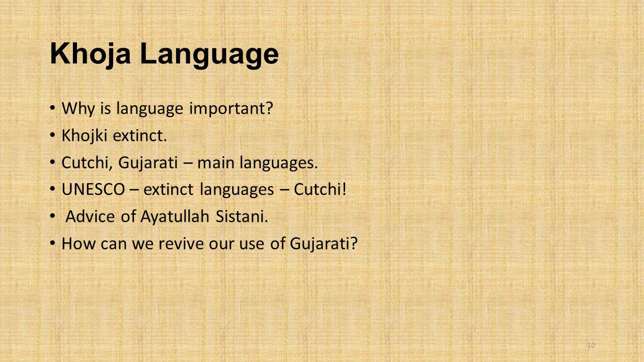 Khoja Language Why is language important. Khojki extinct.
