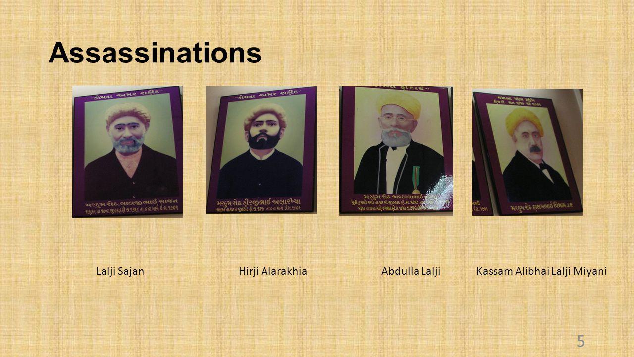 Assassinations 5 Lalji SajanHirji AlarakhiaAbdulla LaljiKassam Alibhai Lalji Miyani