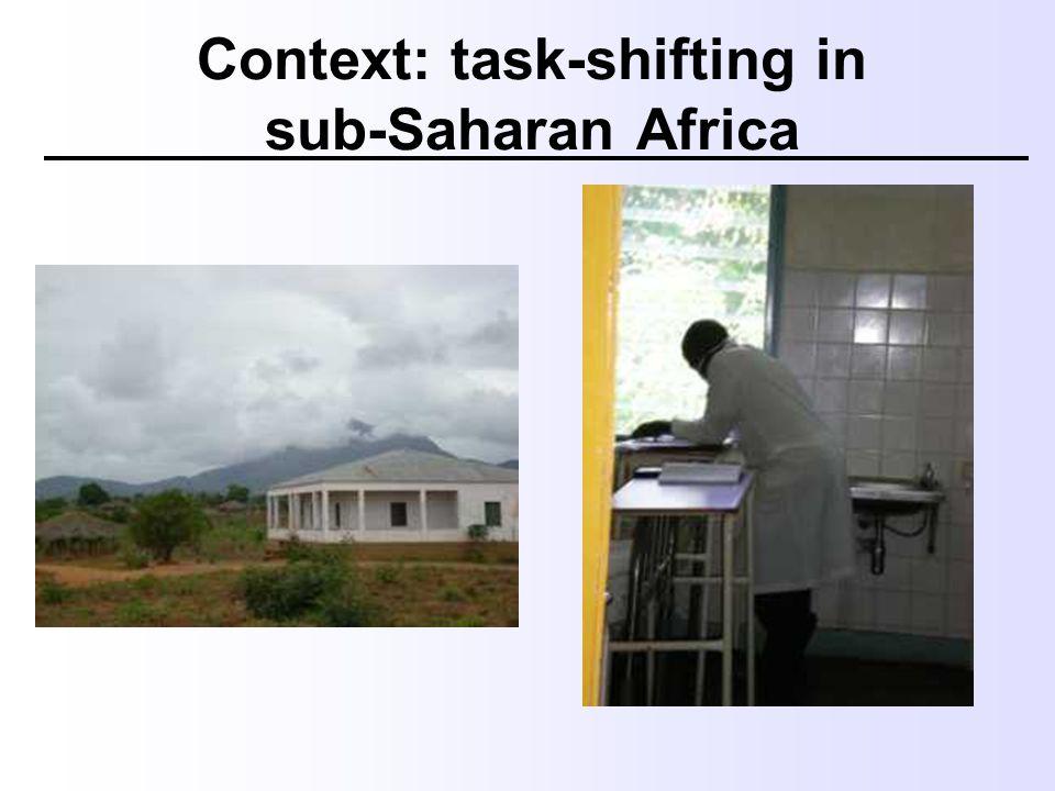 Context: task-shifting in sub-Saharan Africa