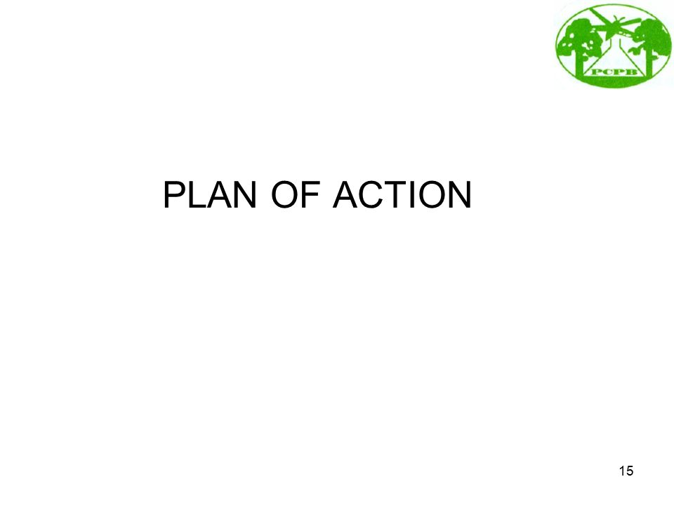 PLAN OF ACTION 15
