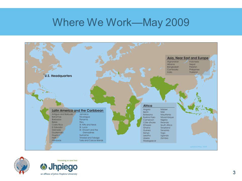 3 Where We Work—May 2009