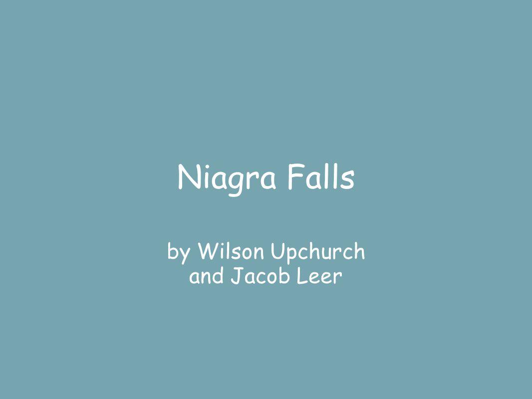 Niagra Falls by Wilson Upchurch and Jacob Leer