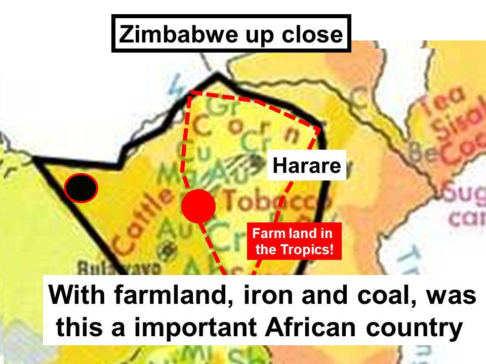 Harare Zimbabwe up close Farm land in the Tropics.