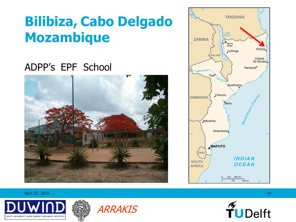 ARRAKIS Bilibiza, Cabo Delgado Mozambique April 22, 201514 ADPP's EPF School