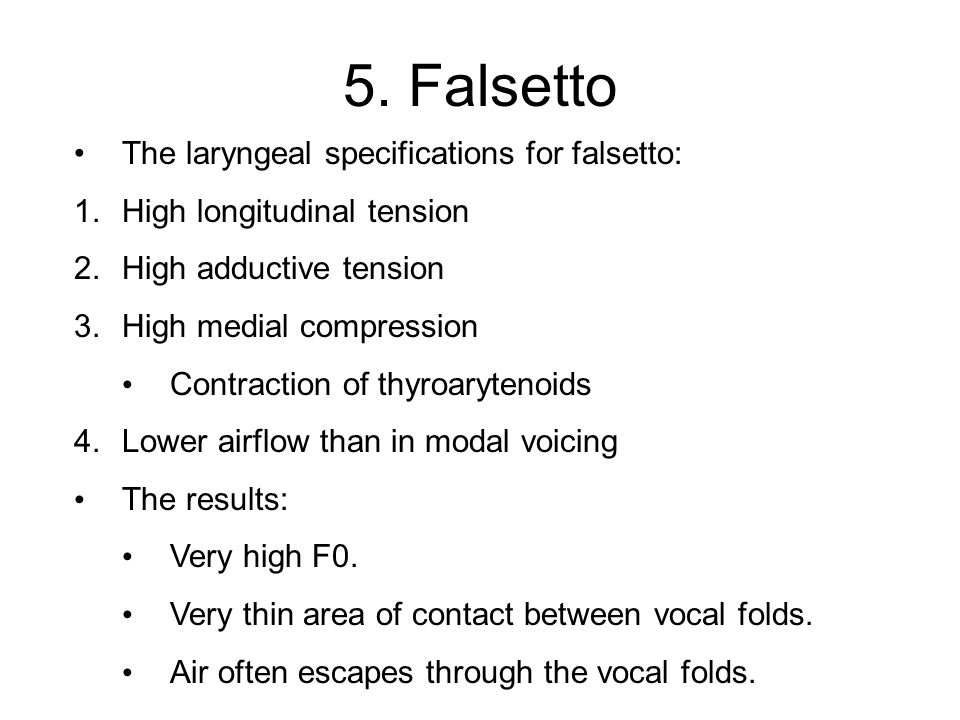 Last but not least What's going on here At some point, my voice changes from modal to falsetto.