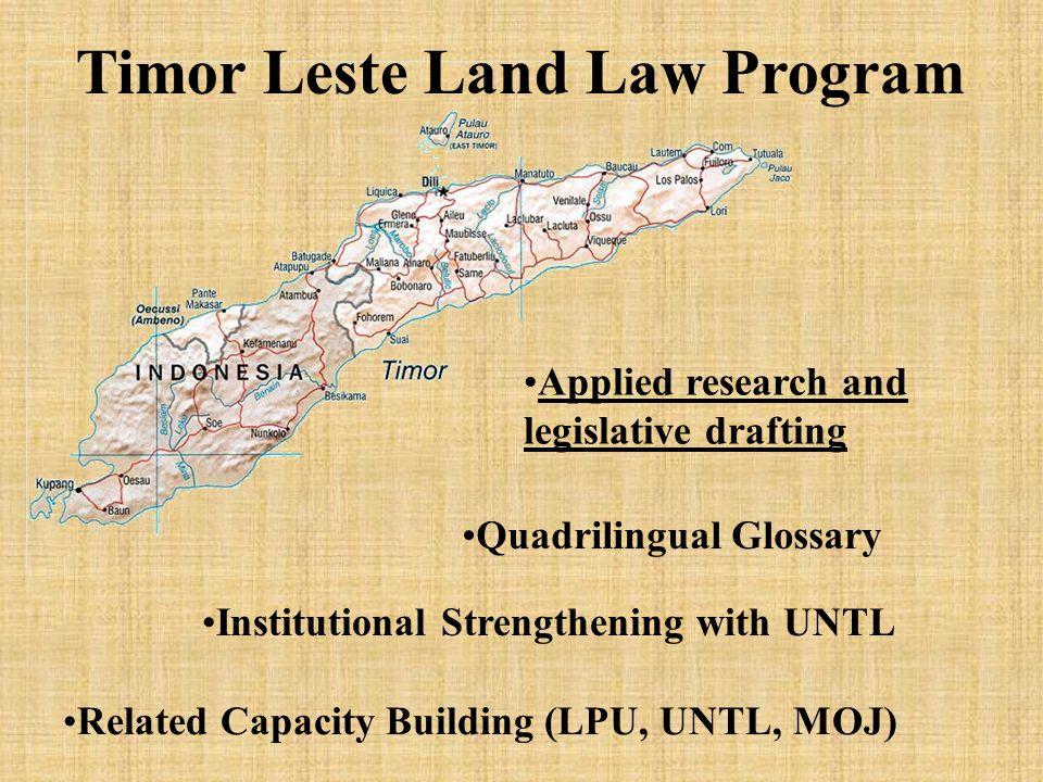 East Timor - Background