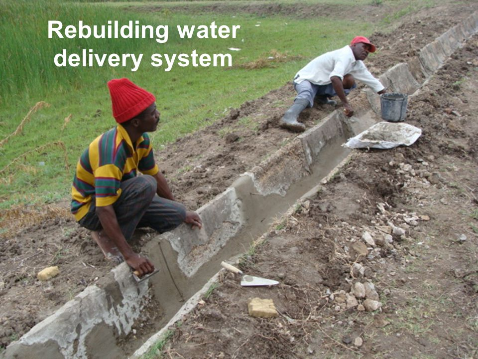 Rebuilding water delivery system