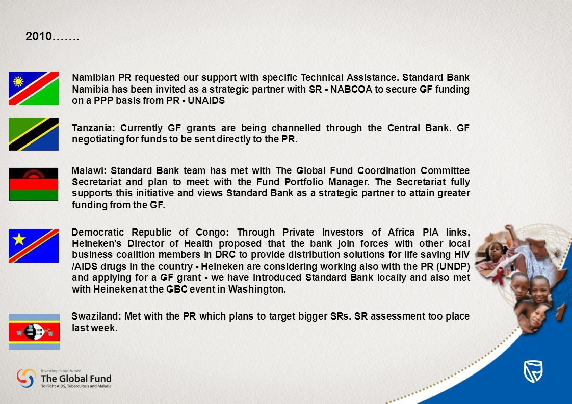 Namibian PR requested our support with specific Technical Assistance.