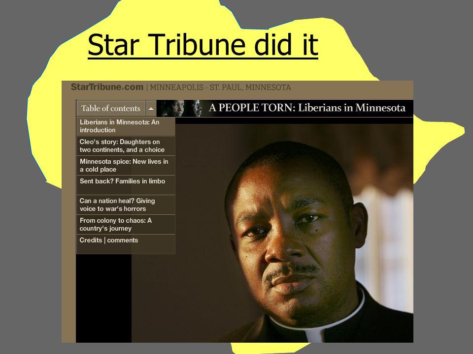 Star Tribune did it
