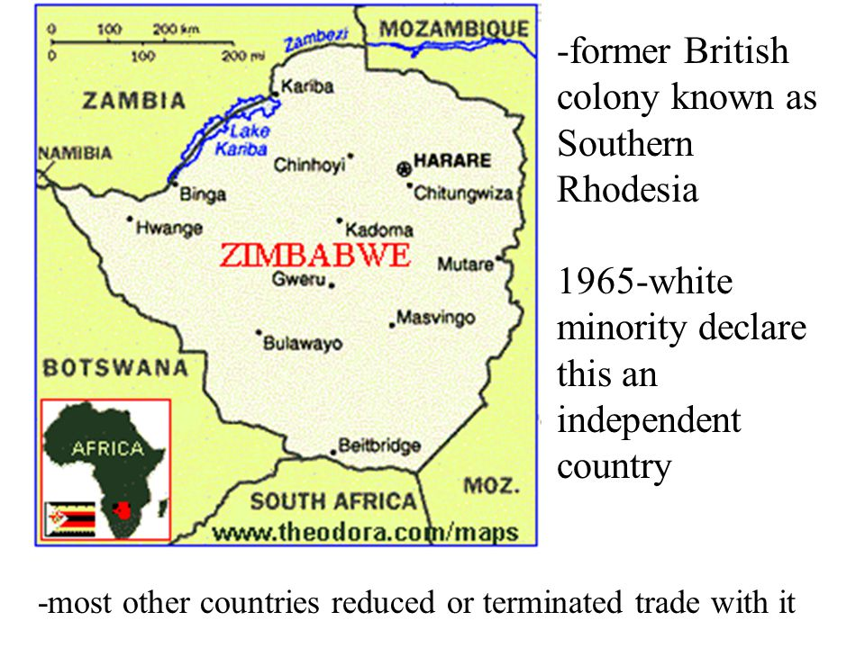 Zimbabwe Landlocked nation in southern Africa