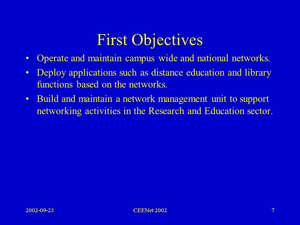 2002-09-23CEENet 200218 Electronic Infrastructure A proposal to establish the Colombo University campus network in 1996.