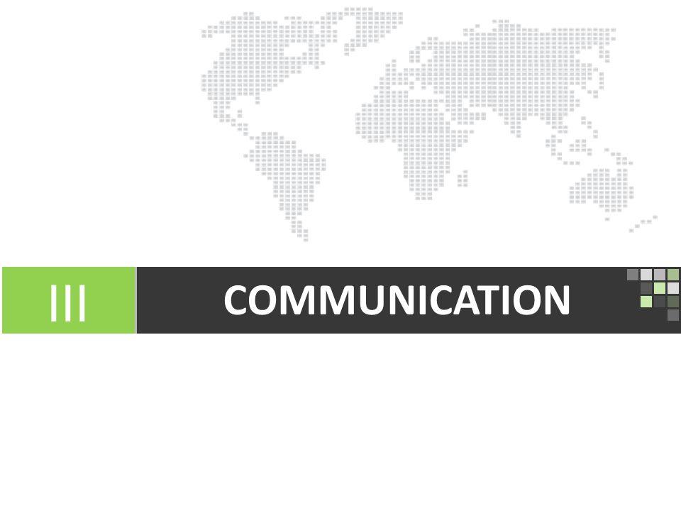 13 COMMUNICATION III