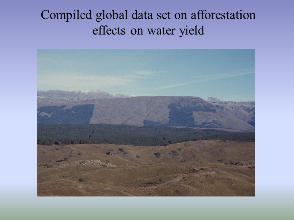Compiled global data set on afforestation effects on water yield