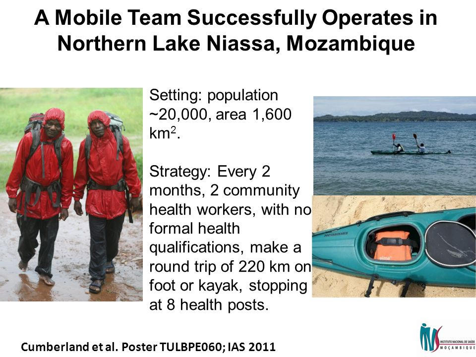 A Mobile Team Successfully Operates in Northern Lake Niassa, Mozambique Setting: population ~20,000, area 1,600 km 2.
