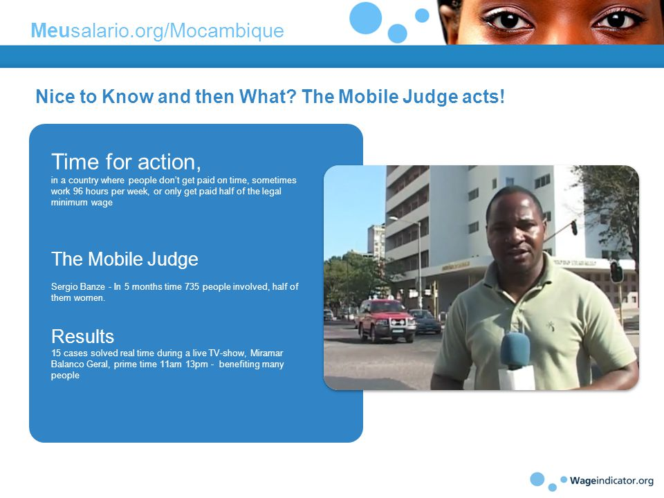 Nice to Know and then What. The Mobile Judge acts.