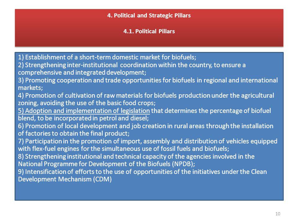 4. Political and Strategic Pillars 4.1.