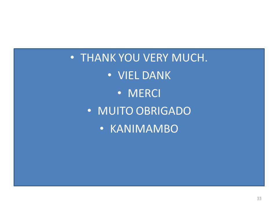 THANK YOU VERY MUCH. VIEL DANK MERCI MUITO OBRIGADO KANIMAMBO 33