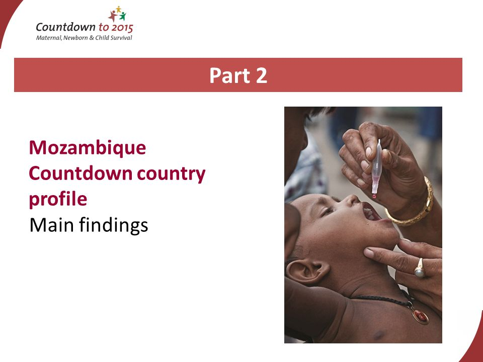 Part 2 Mozambique Countdown country profile Main findings
