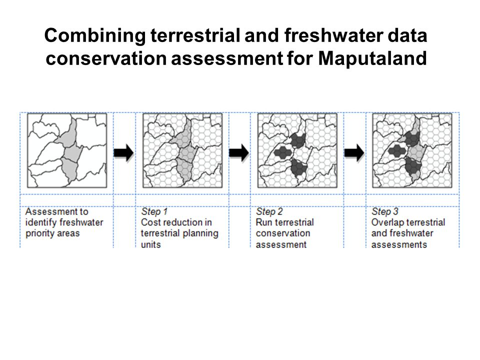 Combining terrestrial and freshwater data conservation assessment for Maputaland