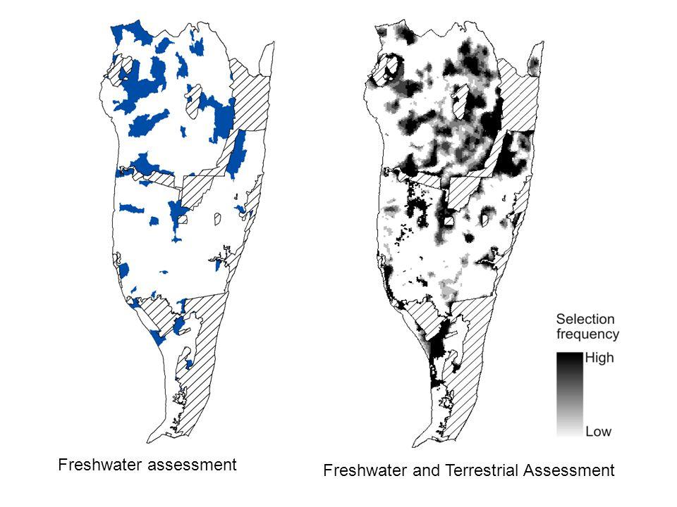 Freshwater assessment Freshwater and Terrestrial Assessment
