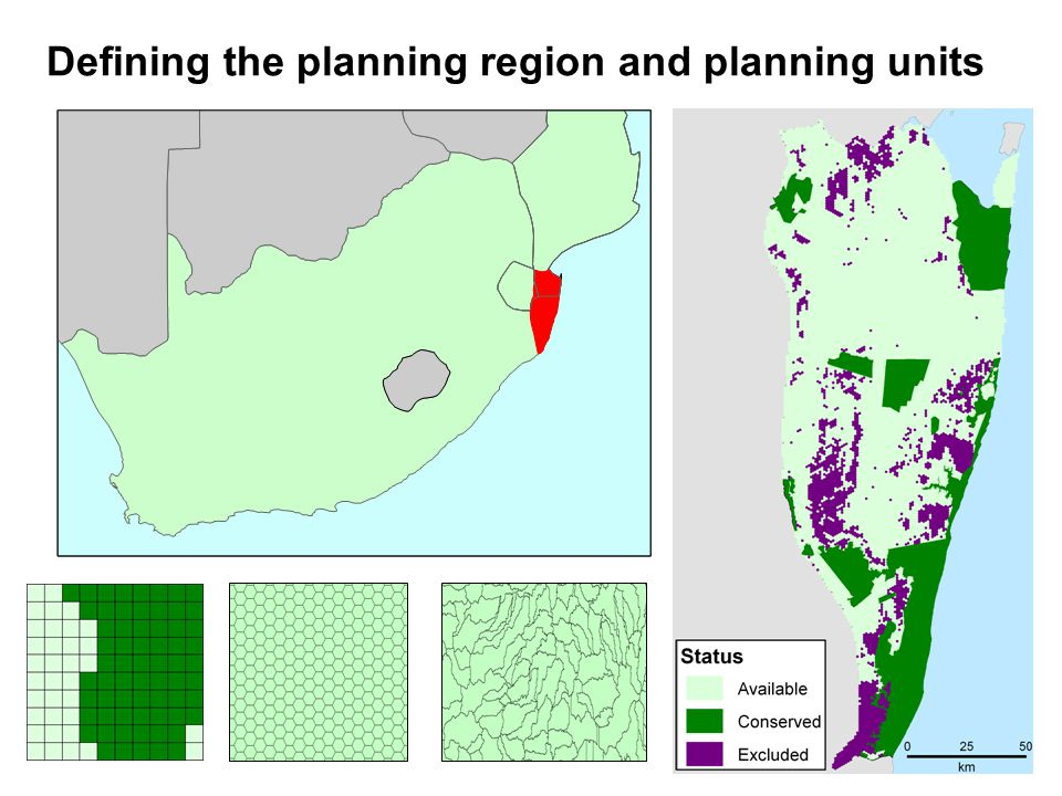 Defining the planning region and planning units