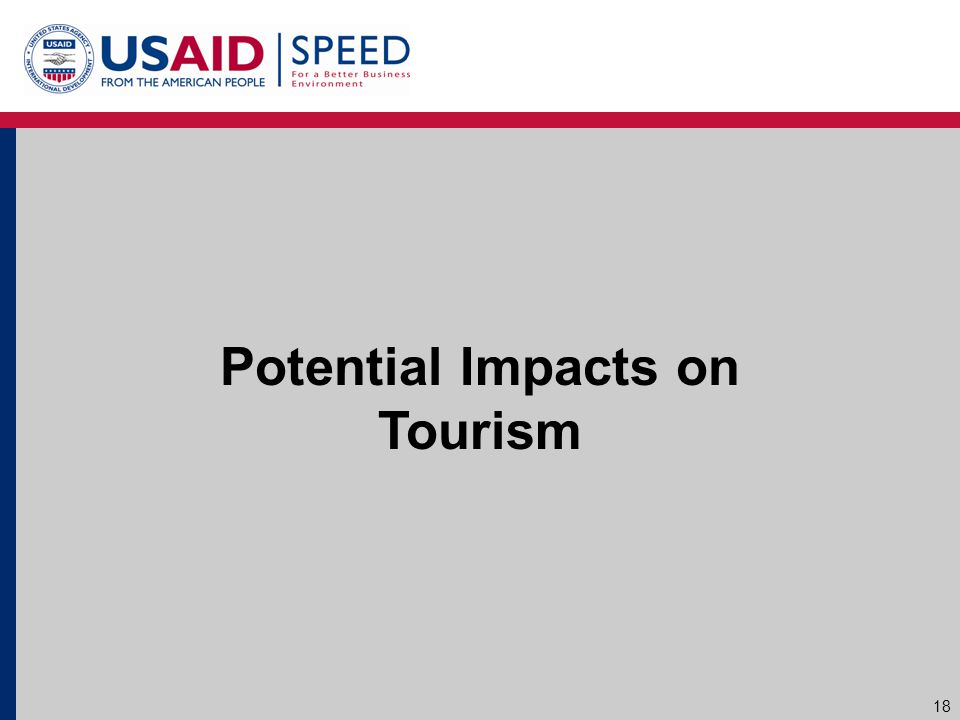 Potential Impacts on Tourism 18