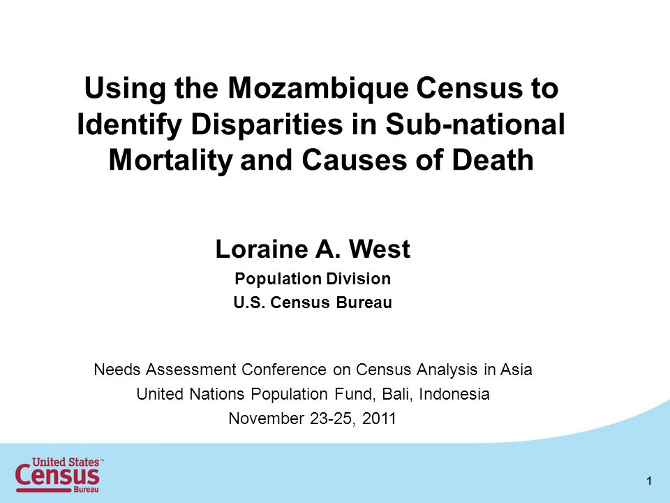 Using the Mozambique Census to Identify Disparities in Sub-national Mortality and Causes of Death Loraine A.