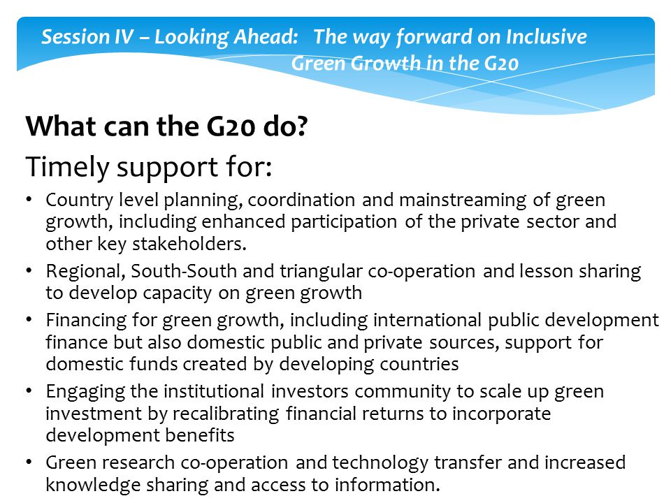 What can the G20 do.