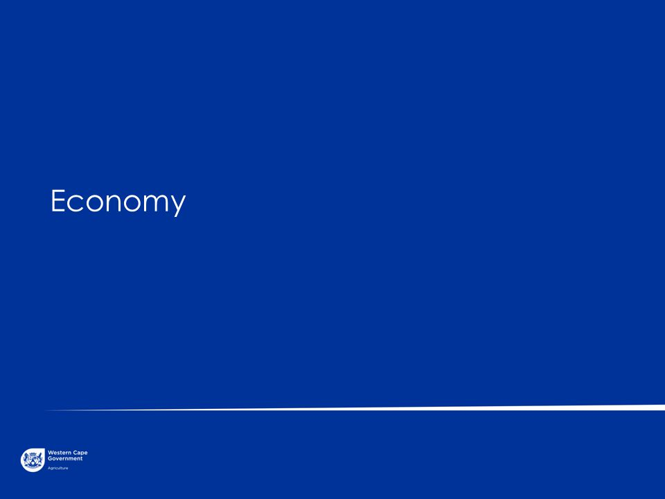 © Western Cape Government 2012 | Economy Gross Domestic Product (GDP) per capita (constant 2000 US$) Go to Insert > Header & Footer > Enter presentation name into footer field 4 Source: World Bank, World Development Indicators South Africa 3 753 (2010) India 804 (2010) European Union 19 395 (2010) Korea, Republic 16 219 (2010) China 2 427 (2010)