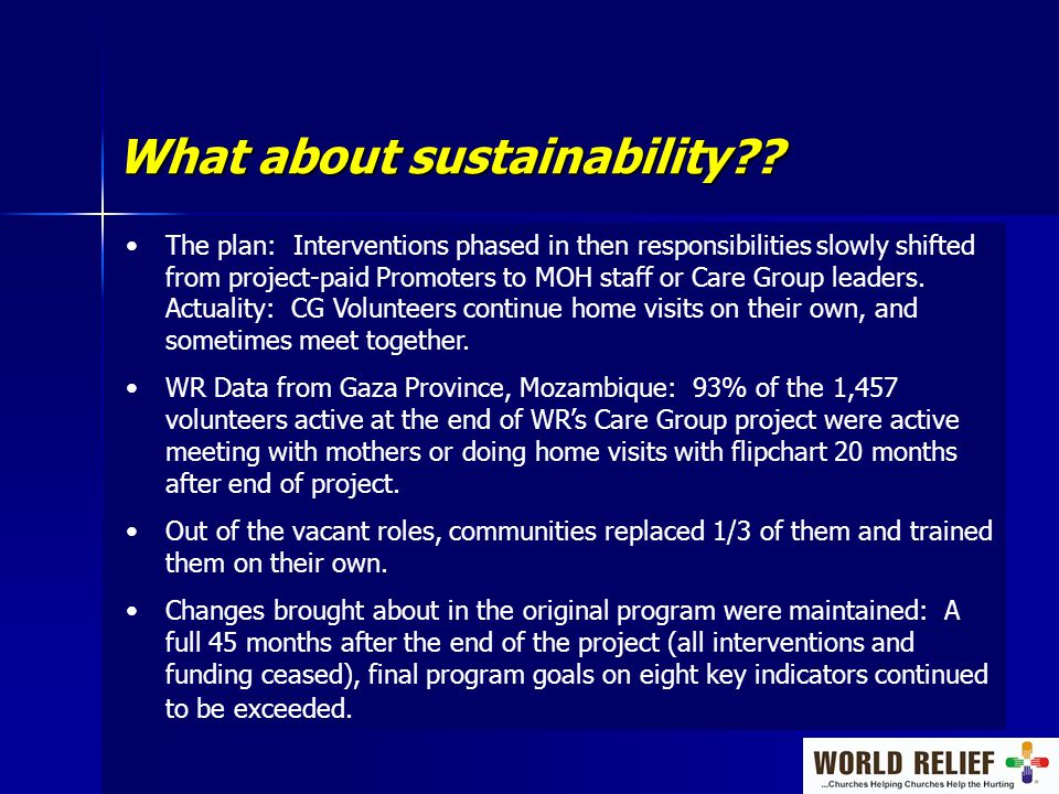 What about sustainability .
