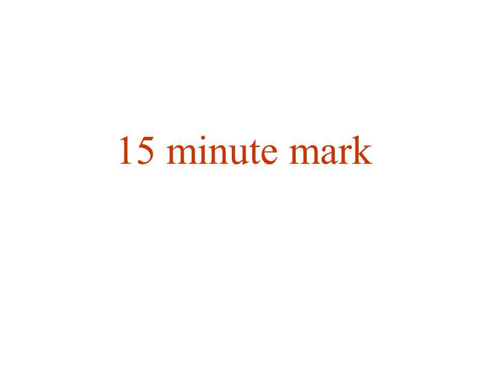 15 minute mark