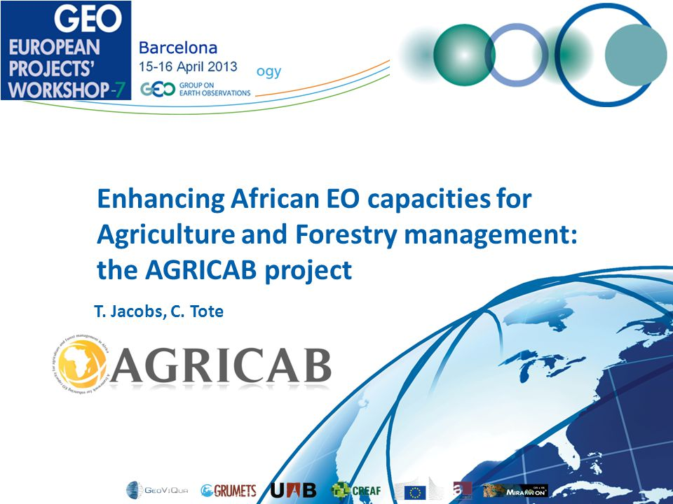 Enhancing African EO capacities for Agriculture and Forestry management: the AGRICAB project T.