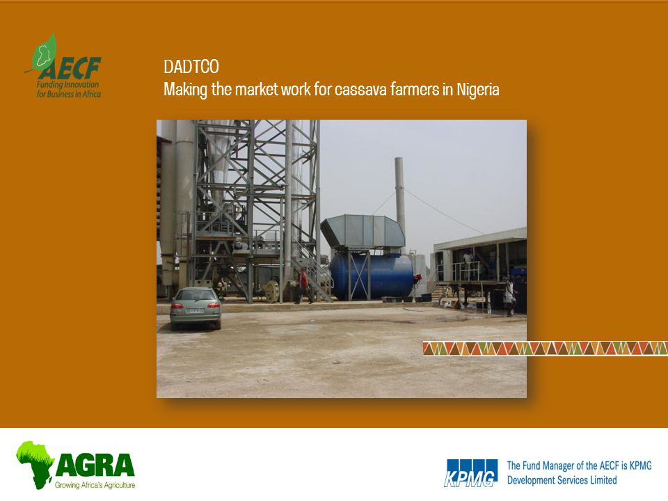 DADTCO Making the market work for cassava farmers in Nigeria