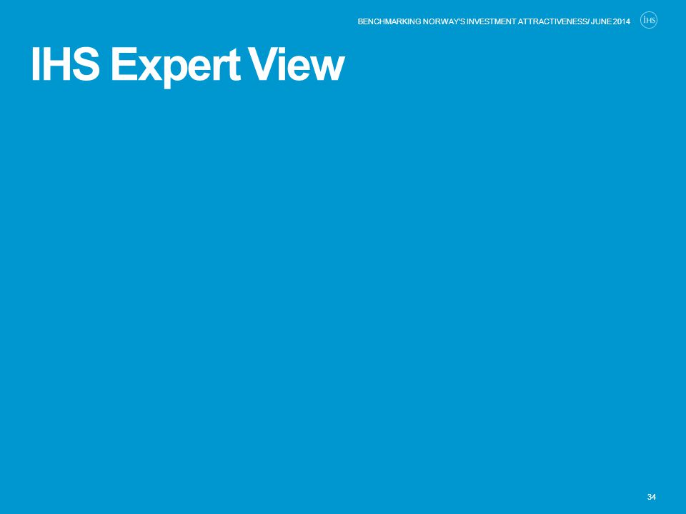 IHS Expert View 34 BENCHMARKING NORWAY'S INVESTMENT ATTRACTIVENESS/ JUNE 2014