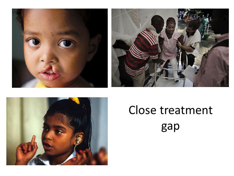 Close treatment gap