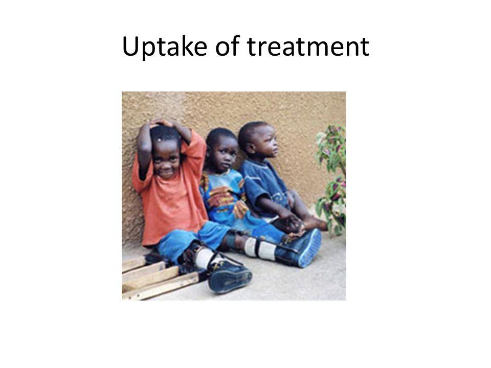 Uptake of treatment